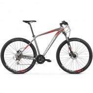 """Bicicleta KROSS Level 2.0 27.5"""" gri/rosu M"""