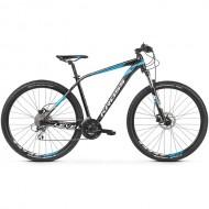 "Bicicleta KROSS Level 2.0 27.5"" negru/alb/albastru M"