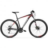 """Bicicleta KROSS Level 3.0 27.5"""" negru/alb/rosu M"""