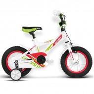 "Bicicleta KROSS Cindy 16 12"" alb/rosu/verde"