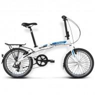 "Bicicleta pliabila KROSS Flex 2.0 16 20"" alb/albastru/negru"