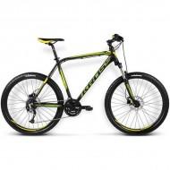 "Bicicleta KROSS Hexagon X6 16 26"" negru/galben M"
