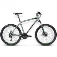 """Bicicleta KROSS Hexagon X6 16 26"""" gri/negru/verde M"""