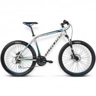 "Bicicleta KROSS Hexagon X4 16 26"" alb/albastru/negru L"