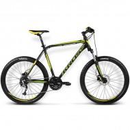 "Bicicleta KROSS Hexagon X6 16 26"" negru/galben L"