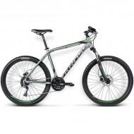 """Bicicleta KROSS Hexagon X6 16 26"""" gri/negru/verde L"""