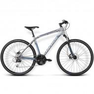"Bicicleta KROSS Evado 4.0 16 28"" gri/albastru S"