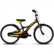 "Bicicleta KROSS Eli 17 20"" negru/galben/portocaliu"