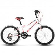 "Bicicleta KROSS Hexagon Mini 17 20"" alb/rosu/negru"