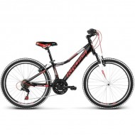 "Bicicleta KROSS Hexagon Replica 17 24"" negru/rosu"