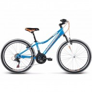 """Bicicleta KROSS Hexagon Replica 17 24"""" albastru/portocaliu"""