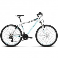 "Bicicleta KROSS Lea F1 17 26"" alb/albastru XXS"