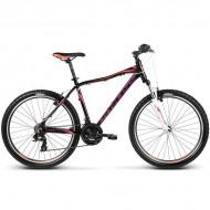 "Bicicleta KROSS Lea F1 17 26"" negru/portocaliu/mov S"