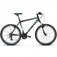 "Bicicleta KROSS Hexagon X2 17 V-brake 26"" negu/alb/albastru L"