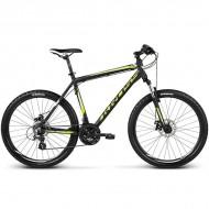 """Bicicleta KROSS Hexagon X2 17 Disc 26"""" negru/galben XL"""