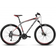 "Bicicleta KROSS Hexagon R6 17 27.5"" gri/rosu/negru S"