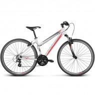 "Bicicleta KROSS Evado 1.0 17 28"" gri/rosu S"