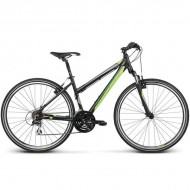 """Bicicleta KROSS Evado 2.0 17 28"""" negru/verde S"""