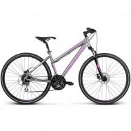 "Bicicleta KROSS Evado 3.0 17 28"" gri/mov S"