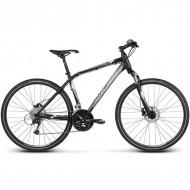 """Bicicleta KROSS Evado 5.0 17 28"""" negru/gri S"""