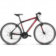 """Bicicleta KROSS Evado 1.0 17 28"""" negru/rosu M"""