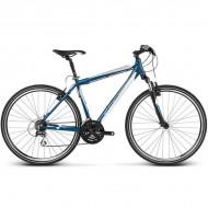 """Bicicleta KROSS Evado 2.0 17 28"""" albastru/alb M"""