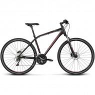 """Bicicleta KROSS Evado 6.0 17 28"""" negru/gri/rosu M"""