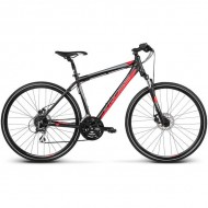 "Bicicleta KROSS Evado 3.0 17 28"" negru/rosu L"