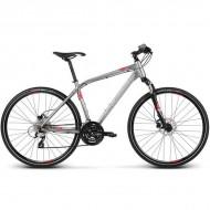 "Bicicleta KROSS Evado 4.0 17 28"" gri/rosu L"
