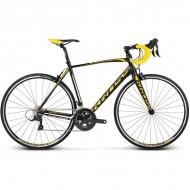 "Bicicleta KROSS Vento 3.0 17 28"" negru/galben/alb M"