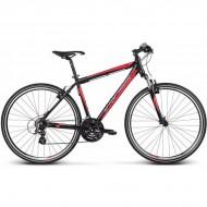 """Bicicleta KROSS Evado 1.0 17 28"""" negru/rosu XL"""