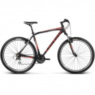 """Bicicleta KROSS Hexagon B3 17 29"""" negru/rosu/argintiu S"""
