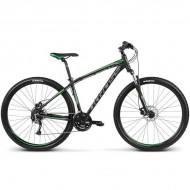 """Bicicleta KROSS Hexagon B5 17 29"""" negru/verde/gri M"""