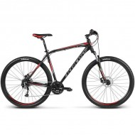 "Bicicleta KROSS Hexagon B5 17 29"" negru/rosu/gri M"