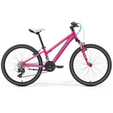 Bicicleta MERIDA 17 MATTS J24 roz/albastru/gri