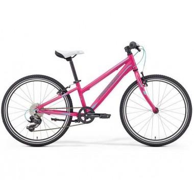 Bicicleta MERIDA 17 MATTS J24 Race roz/albastru/gri