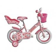 "Bicicletă HELLO KITTY 12"" (roz/alb)"