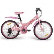 "Bicicletă HELLO KITTY MTB 20"" (roz/alb)"