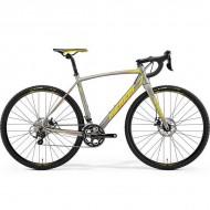 "Bicicleta MERIDA 18 Cyclo Cross 400 28"" silk titan/galben/rosu L (56 cm)"