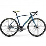 "Bicicleta MERIDA 18 Cyclo Cross 300 28"" albastru petrol/galben L (56 cm)"