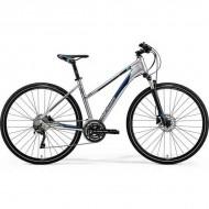 "Bicicleta MERIDA 2019 Crossway 500 Lady 28"" argintiu/albastru S (47L cm)"