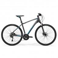 "Bicicleta MERIDA 2019 Crossway XT-Edition 28"" argintiu/albastru L (55 cm)"