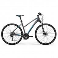 "Bicicleta MERIDA Crossway XT-Edition Lady 28"" argintiu/albastru M (51L cm)"