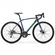 "Bicicleta MERIDA 2019 Cyclo Cross 300 28"" albastru petrol/galben L (56 cm)"