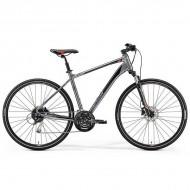 "Bicicleta MERIDA 2019 Crossway 100 28"" argintiu/rosu/negru L (55 cm)"