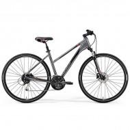 "Bicicleta MERIDA 2019 Crossway 100 Lady 28"" argintiu/rosu/negru S (47L cm)"