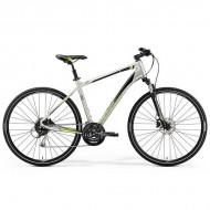 "Bicicleta MERIDA 2019 Crossway 100 28"" titan/verde/negru L (55 cm)"