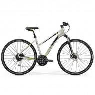 "Bicicleta MERIDA 2019 Crossway 100 Lady 28"" titan/verde/negru S (47L cm)"