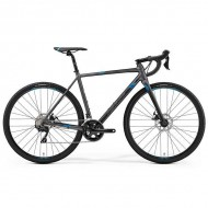 "Bicicleta MERIDA Mission CX 400 28"" argintiu/albastru XS (47 cm)"