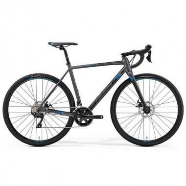 """Bicicleta MERIDA Mission CX 400 28"""" argintiu/albastru M (53 cm)"""